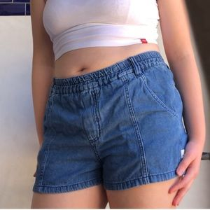 Urban Outfitters Quicksilver Denim Pull-On Short